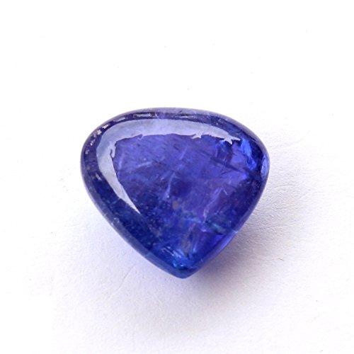 Be You Bleu Couleur Naturelle Afrique Tanzanite Good Qualité 11x12x7 mm Taille Cabochon Cœur Forme 1 pcs de Pierres précieuses en Vrac
