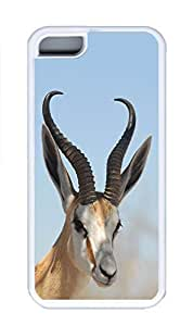 iPhone 5C Case, Personalized Custom Hard White Case for iphone 5C - Deer Cover