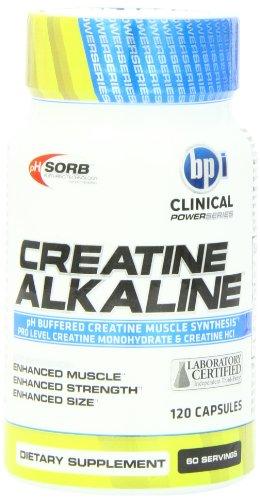 Supplément BPI Sport Herbal minérale, créatine alcaline, 120 comte