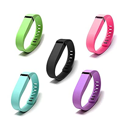 Techno Band for Fitbit Flex: Wristband Bracelet with Clasp Replacement Accessory for Fitbit Flex Activity and Sleep Tracker.