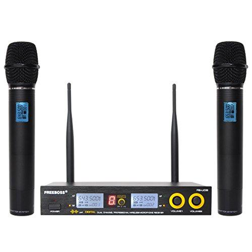 900mhz Wireless Microphone (Freeboss FB-U09 2 Way Metal Handhelds Digital UHF Wireless Microphone)
