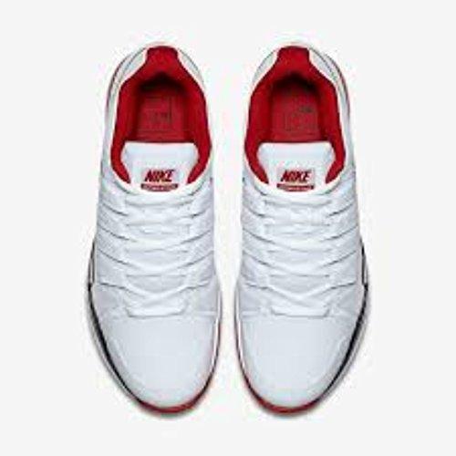 Blanco Clay Uomo University Scarpe White 9 Red Vapor black Tour 5 Nike Zoom Tennis da w4XqvX