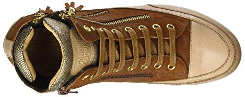 Candice Cooper Damen Camoscio Vint. Hohe Sneaker Braun (marrone)