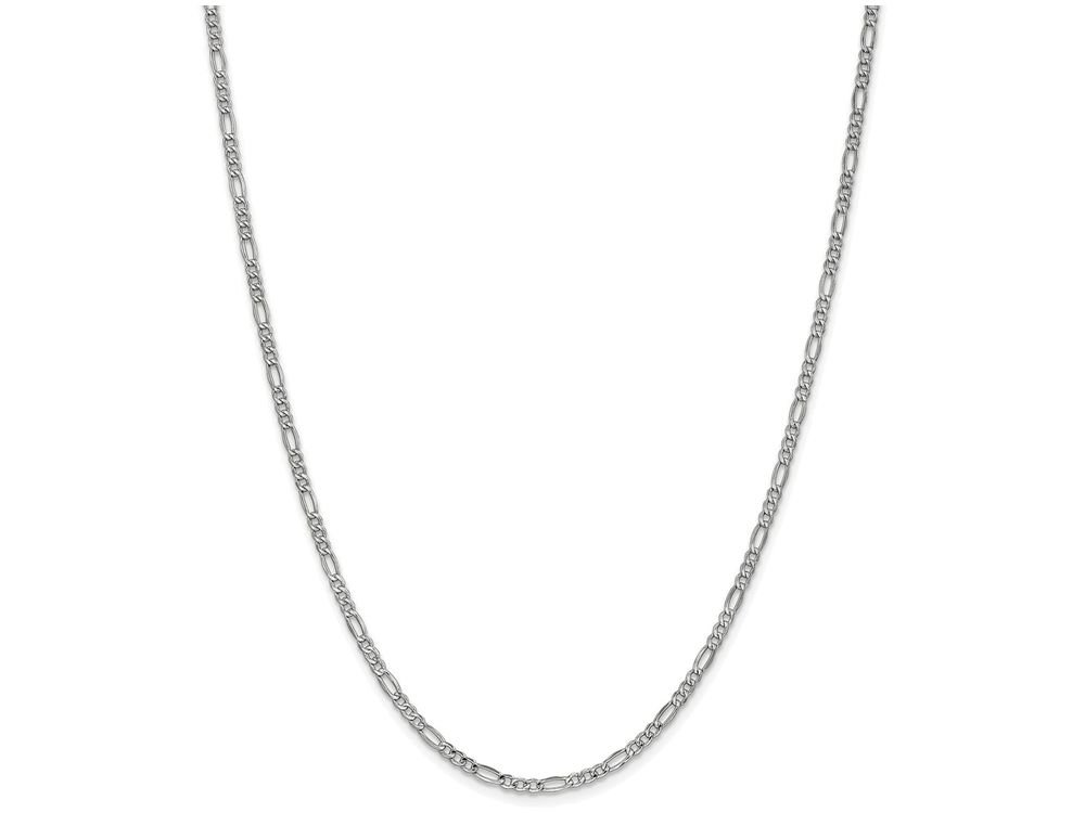 Finejewelers 24 Inch 14k 2.5mm White Gold Figaro Hollow Chain Necklace