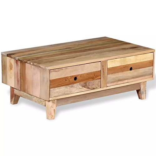 Reclaimed Wood Coffee Table Amazon: Amazon.com: Festnight Industrial Coffee Table With 2