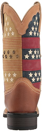 Patriotic On Pull Tan Boots Womens Patriotic Western 12