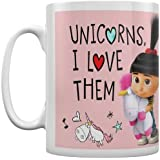 "Pyramid International"" Despicable Me 3 (Unicorns I Love Them) - Taza de café y té en Caja de cerámica, Papel, 11 x 11 x 1,3 cm"
