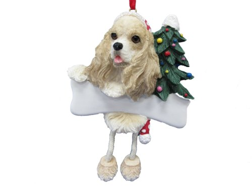 Cocker Spaniel Ornaments (Cocker Spaniel Ornament Tan and White with Unique