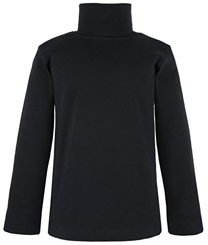 Kids Turtles Neck Warmer (Lovetti Girls' Basic Long Sleeve Turtleneck 100% Cotton T-Shirt 2T Black)