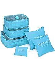 COMLIFE Bolsas de Viaje Portable para Maleta de Nylon y Malla Almacenamiento Ropa,Tableta, Batería Externa, Disco Duro, USB Cables, Cargadores, Tarjetas de Memoria, etc