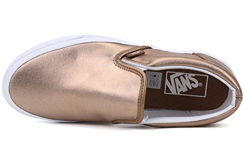 Vans Unisex Classic Slip-on (metálico) Zapato Skate Metálico Rosa Dorado True White