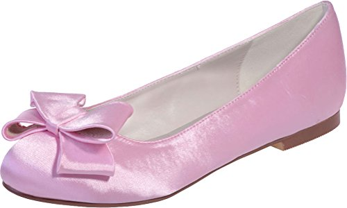 Pink 23 Toe Satinmps Vimedea Slip Flat Satin Dress Wedding Round 9872 Purple On Womens wSO7qY