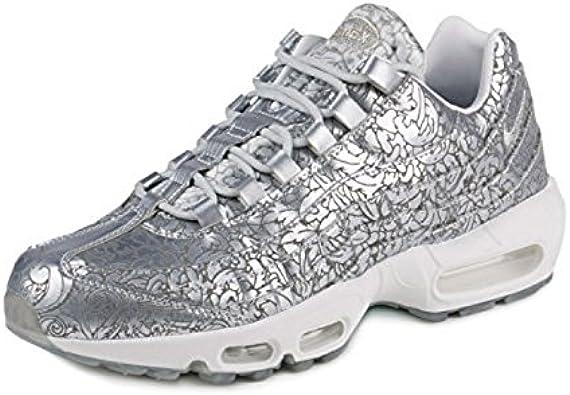 Nike Mens Air Max 95 Anniversary QS Pure Platinum Metallic