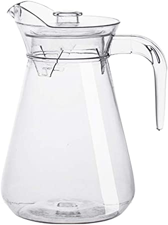 Yardwe Acrylic Pitcher With Lid And Handle For Water Clear Jug Coffee Tea Beverages Clear 2l Amazon Co Uk Kitchen Home