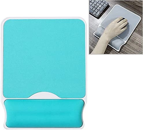Color : Sky Blue Square Slow Rebound Memory Cotton Bracer Hard Bottom Mouse Pad