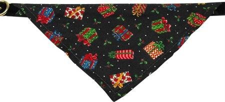 Mirage Pet Products Limited Edition Velvet Christmas Presents Bandana Collar for Dogs, 10-Inch