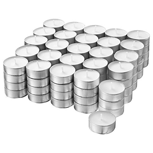 (IKEA Glimma Unscented Tealights, White, 100 Count 500.979.95)