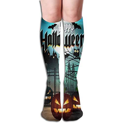 Socks Happy Halloween Pumpkin Trendy Womens Stocking Accessory
