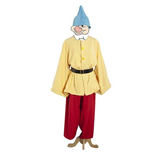 Cosplaydiy Men's Suit for 7 Seven Dwarfs Cosplay Yellow&Red XXXL (7 Dwarfs Halloween Costume)