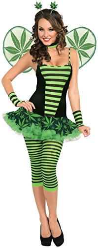Forum Novelties Women's Get Buzzed Cannabis Costume, Green, Standard