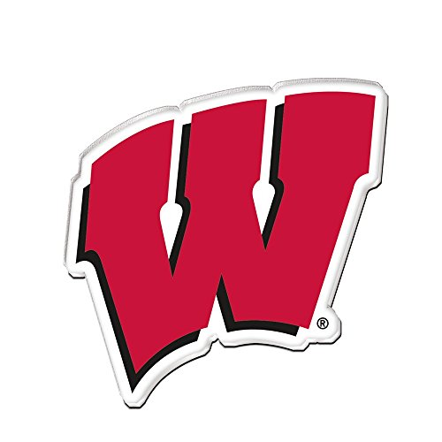 WISCONSIN BADGERS OFFICIAL LOGO ACRYLIC MAGNET