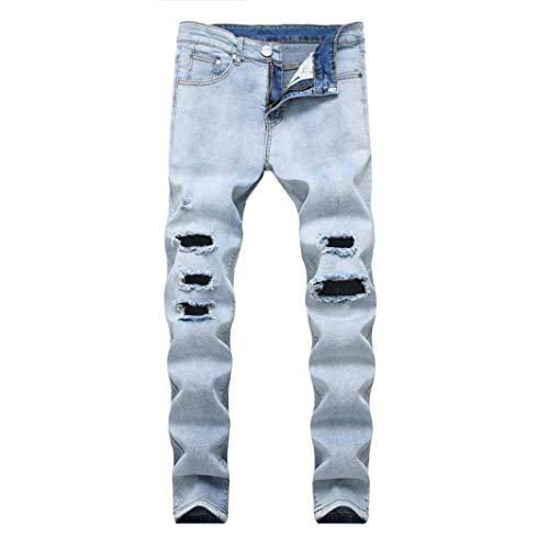 E Estilo Jeans Da Con Uomo Strappati R Attillati Nastrati Blau Especial Skinny Denim Aderenti vvr0w4