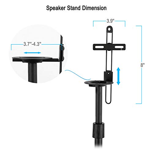 Mounting Dream Height Speaker Stands One Pair Floor Stands, Duty Base Extendable 11 Per MD5401