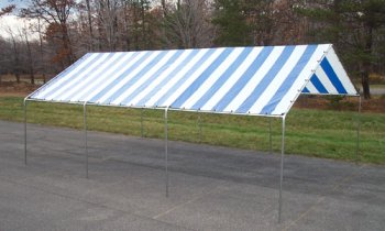 18 Ft. x 30 Ft. Canopy - Heavy 17 Gauge Frame - Blue/ : striped canopy tent - memphite.com