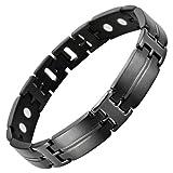 Willis Judd New Mens Black Titanium 3000G Magnetic Bracelet In Gift Box Free