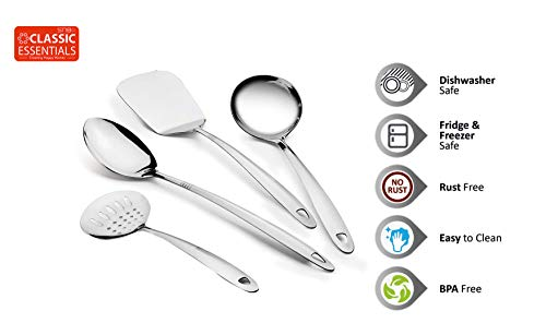 Classic-Essentials-Stainless-Steel-Cooking-and-Serving-Spoon-Set-of-4-Complete-Silver-Kitchen-Tool-Pack-of-4