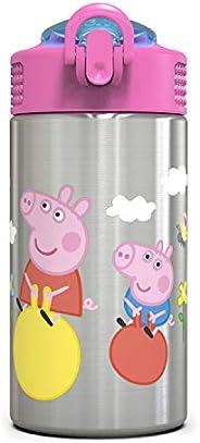 Nick Jr. PEPH-S730 Peppa Pig Water Bottles, 15.5. oz, by Zak Designs