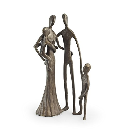 - Danya B. ZD6780S Contemporary Metal Art Home Decor - Family of Four Cast Bronze Sculpture - Bottom-lined with Velveteen