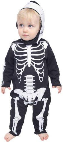 Infant Baby Skeleton Halloween Costume (Sz:12-18M)