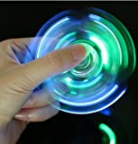 LED Fidget Spinner, CPEI Clear LED Light fidget spinner,EDC Fidget Spinner High Speed Stainless Steel Bearing ADHD Focus Anxiety Relief Toys (LED Blue, Spinner)