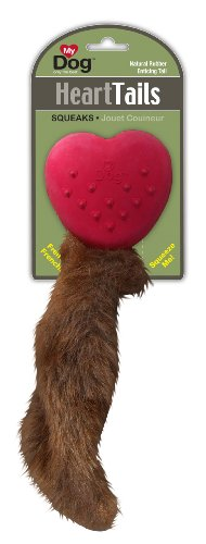MY DOG Heart Tails  Dog Toy, Medium (Colors and Style Vary), My Pet Supplies