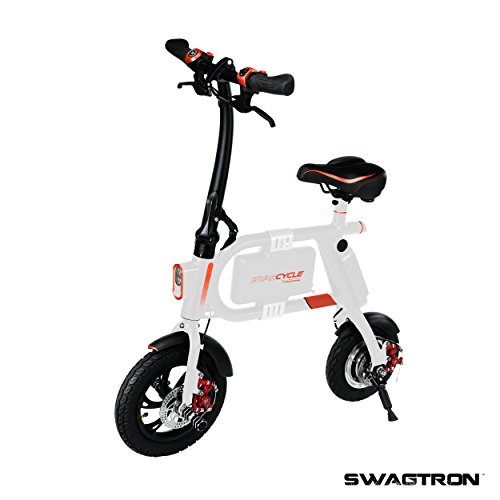 Swagcycle e-Bike - Folding Electric Bicycle by Swagtron - White