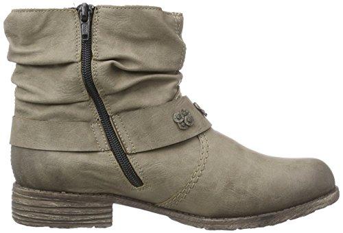 Rieker - botines de caño bajo de material sintético mujer Beige - Beige (kiesel / 64)