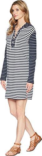 Cooper Capri Hank 3 Manica Donne Navy Screpolature Delle Abbigliamento Stripe 4 Bianco Casual EqzOq4wcWF