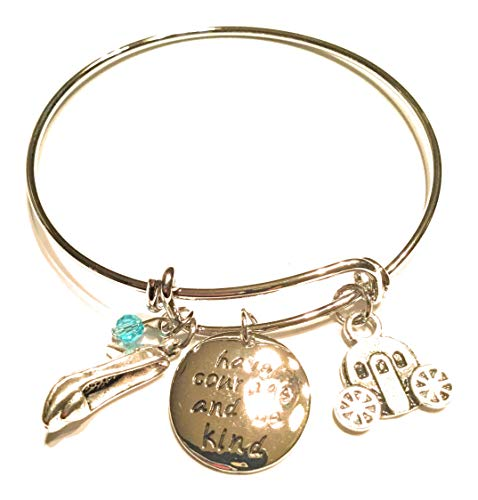 Ivy & Clover Charm Bracelet Collection (Cinderella Fairytale Princess Inspired Bangle Have Courage and be Kind)