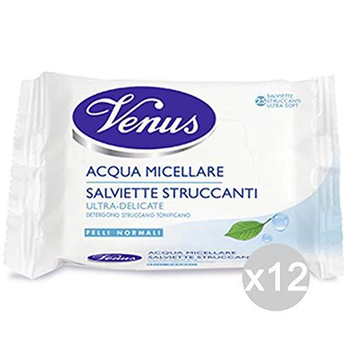 Venus Juego de 12 Toallitas desmaquillantes Agua micelar ...