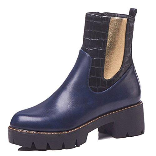 36 Boots Bleu HiTime 5 Bleu Chelsea Femme A0gnqzw