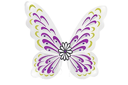 White Fairy Wings (White Sparkling Fairy Costume Wings)