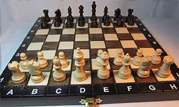 Backgammon aus Holz 27 x 27 cm Schach Dame Schachspiel