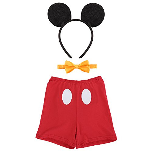 IBTOM CASTLE Cake Smash Outfits Baby Boy 1st Birthday Party Suspenders Diaper Nappy Cover Bow Tie Kids Clothing Christmas Dresses #4 Boxer Red 2-3 Years -