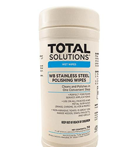 Voc Compliant Formula (WB Stainless Steel Polishing Wipes (Water Based Formula and VOC Compliant) - 6 Canisters per case (70 wipes per canister))