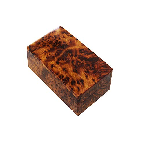 Bazaardi Hand Carved Wooden Box Keepsake Box Storage Jewelry Decorative Art Organizer (Large Wood Box,Antique)