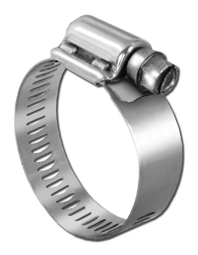 Pro Tie 33601 SAE Size 028 Range 1-5/16-Inch-2-1/4-Inch Very Heavy Duty All Stainless Hose Clamp, 2-Pack by Pro Tie