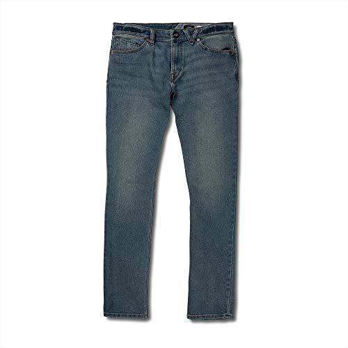 Volcom Rise Low Jeans - Volcom Men's Vorta Slim Fit Stretch Denim Jean, Road Sky, 34X34