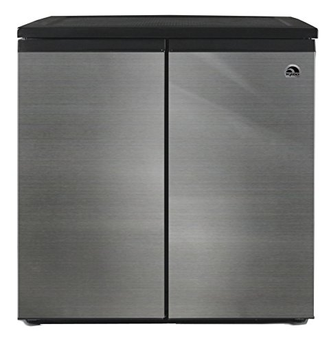 Igloo Fr551 5 5 Cubic Feet Side By Side 2 Door Refrigerator Freezer  Stainless Steel