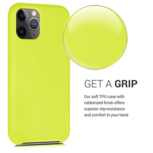 kwmobile TPU Silicone Case Compatible with Apple iPhone 11 Pro Max - Soft Flexible Rubber Protective Cover - Lemon Yellow